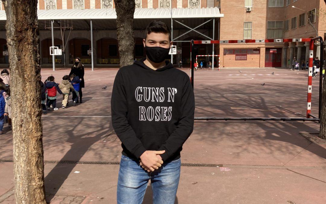 David Gajate, alumno de segundo de Bachillerato, finalista de las 'Becas Europa'