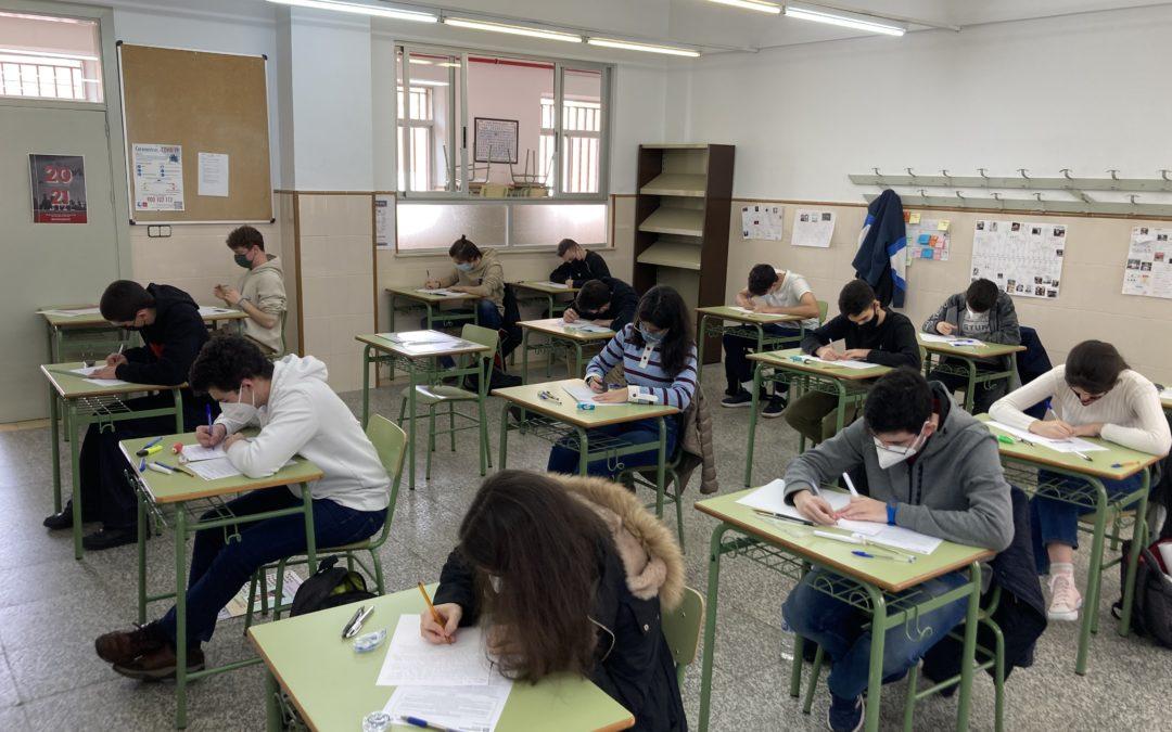 Los alumnos de segundo de Bachillerato comienzan los exámenes globales de la tercera evaluación